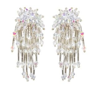 Amrita Singh Glass Bead Drop Earrings NWT